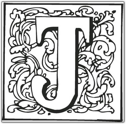 525x516 Letter J Coloring Pages