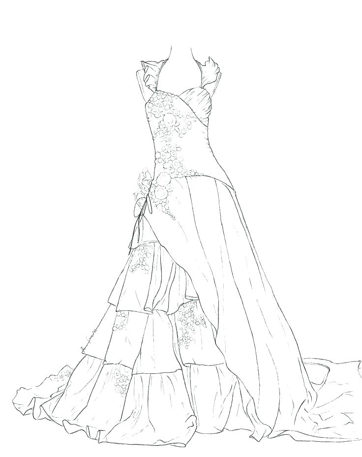 736x929 Barbie In Dress Coloring Page Fancy Dress Coloring Pages