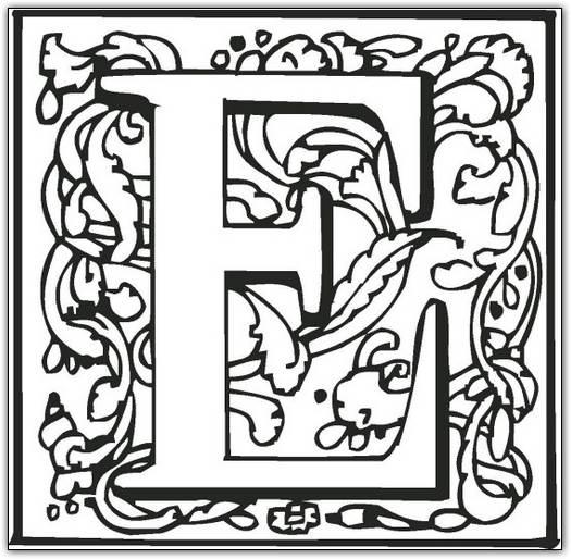 525x514 Fancy Alphabet Letters Colorin