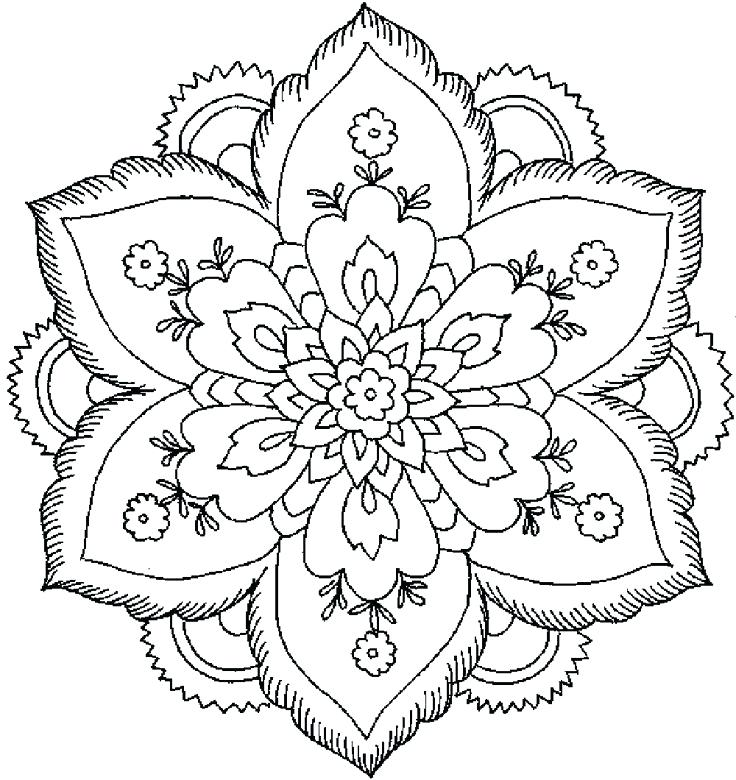 736x780 Coloring Pages Flowers Fancy Flowers Coloring Pages About Remodel