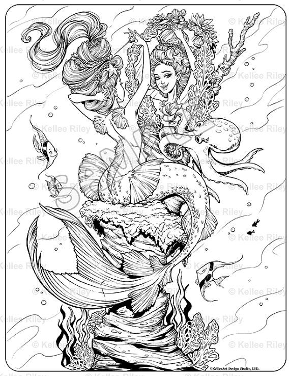 570x738 Mermaid Coloring Pages For Adults Erf Coloring