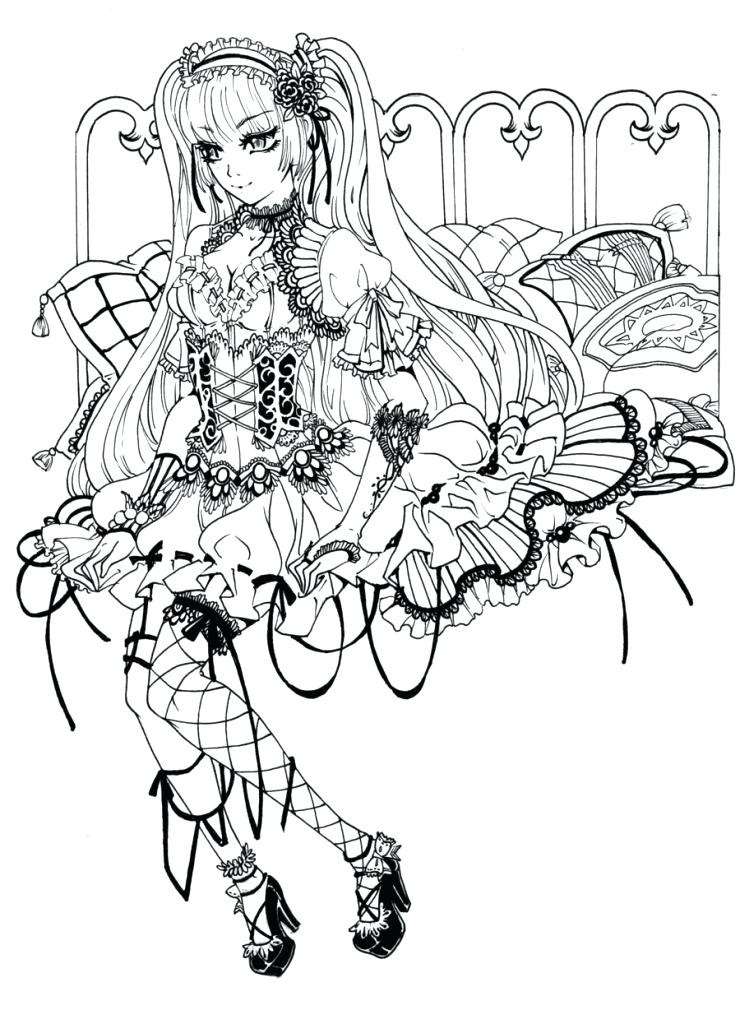 740x1024 Unusual Idea Free Printable Coloring Pages For Adults Dark Fairies