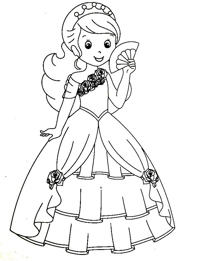 Fancy Dress Coloring Pages