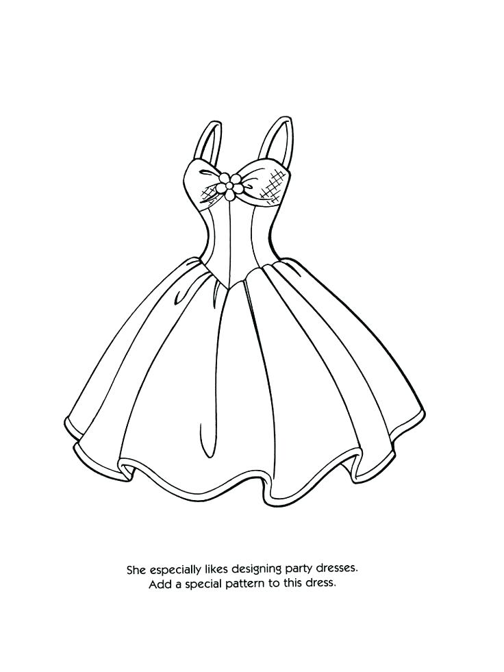 Fancy Dress Coloring Pages At Getdrawings Free Download