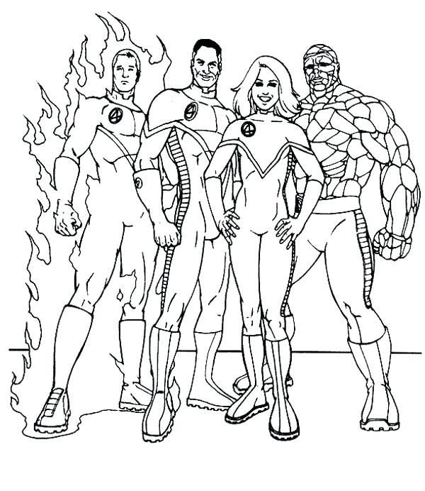 600x692 Fantastic Coloring Pages Fantastic Four Coloring Picture Fantastic