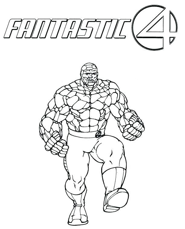 612x757 Fantastic Four Coloring Pages Fantastic Coloring Pages Fantastic