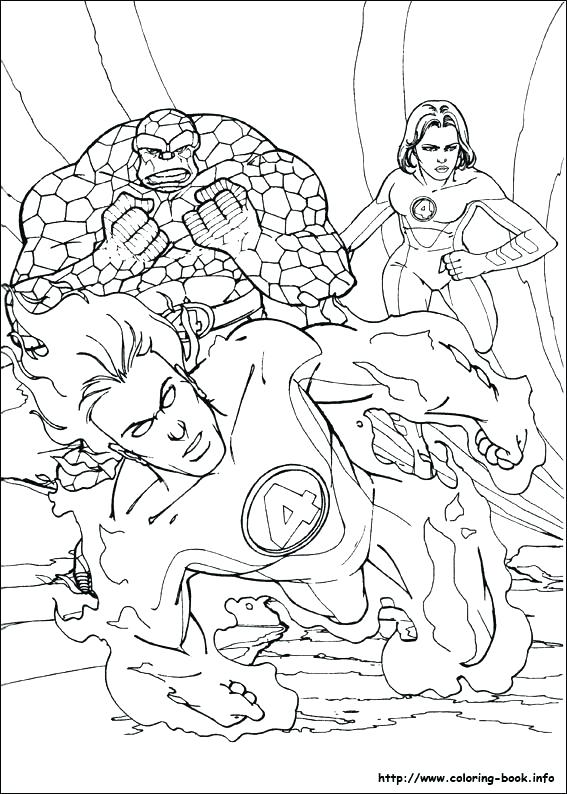 567x794 Fantastic Four Coloring Pages Fantastic Four Fantastic Coloring