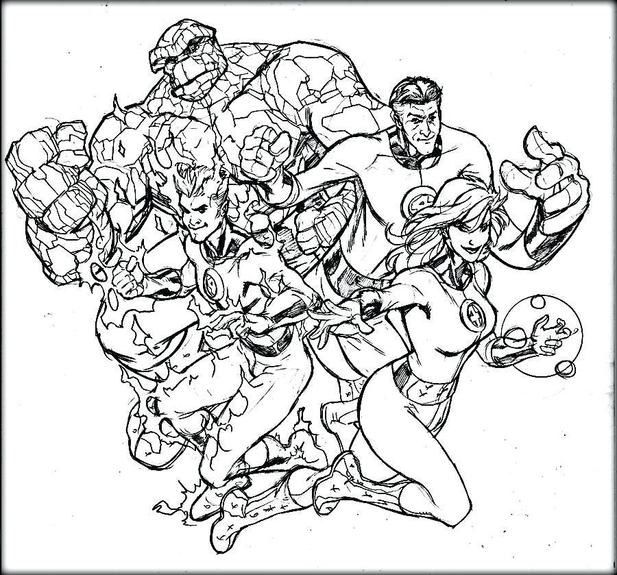900x839 Fantastic Four Coloring Pages Fantastic Four Coloring Pages
