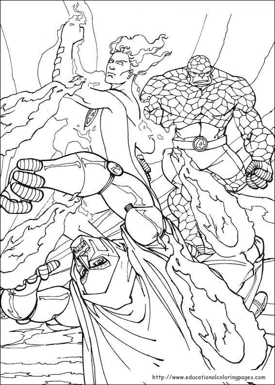 567x794 Fantastic Four Coloring Pages