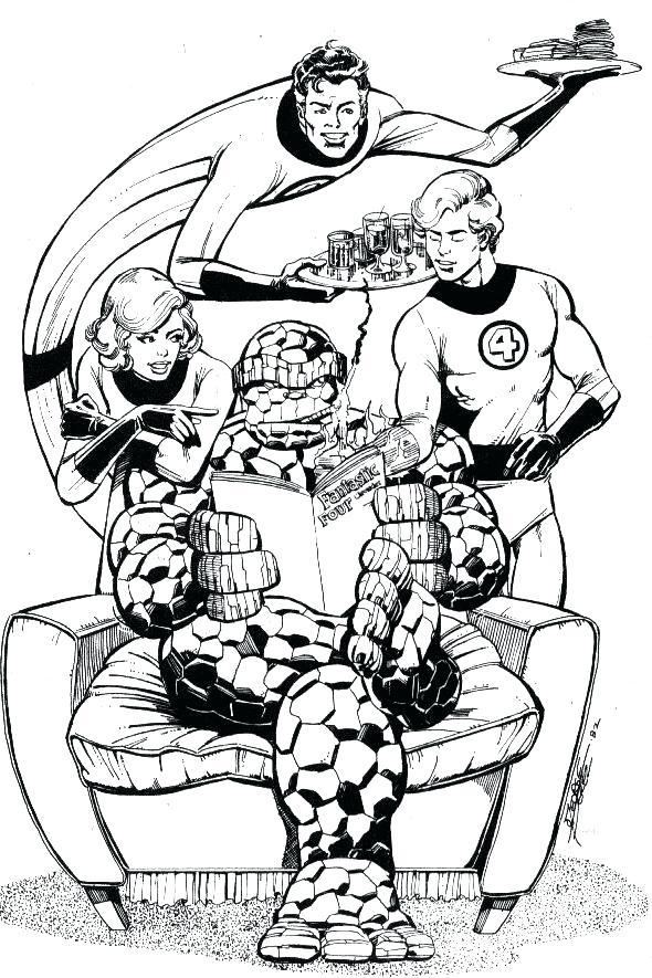 590x885 Fantastic Four Coloring Pages Fantastic Four Fantastic Four