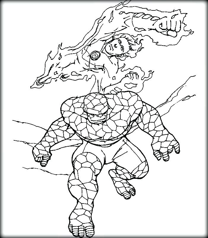 700x800 Fantastic Four Coloring Pages Top Free Fantastic Four Printable