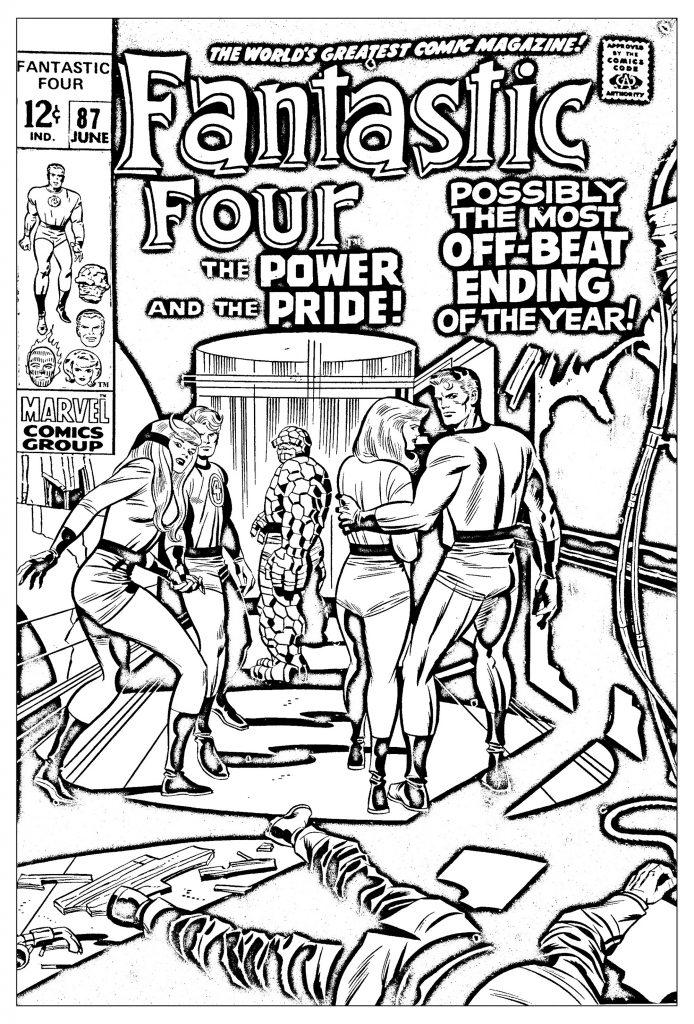 694x1024 Fantastic Four Coloring Pages