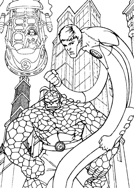 565x792 Fantastic Four Coloring Pages