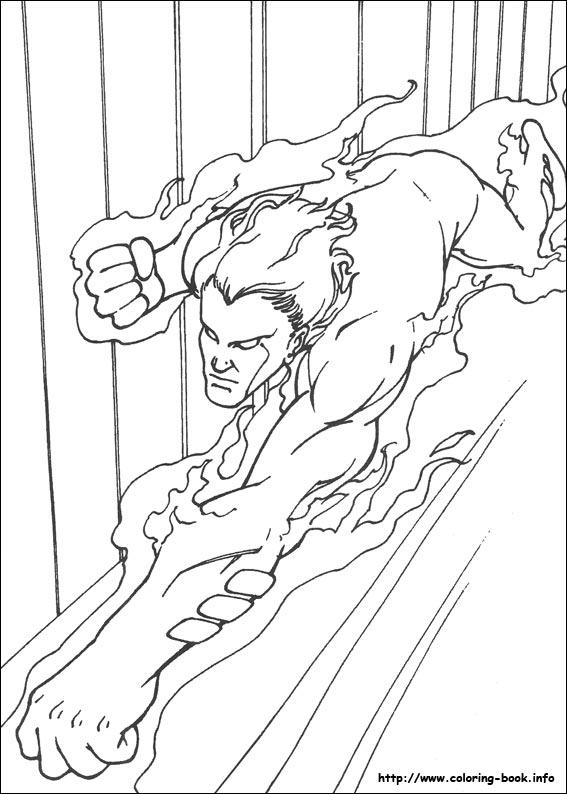 567x794 Fantastic Four Coloring Picture