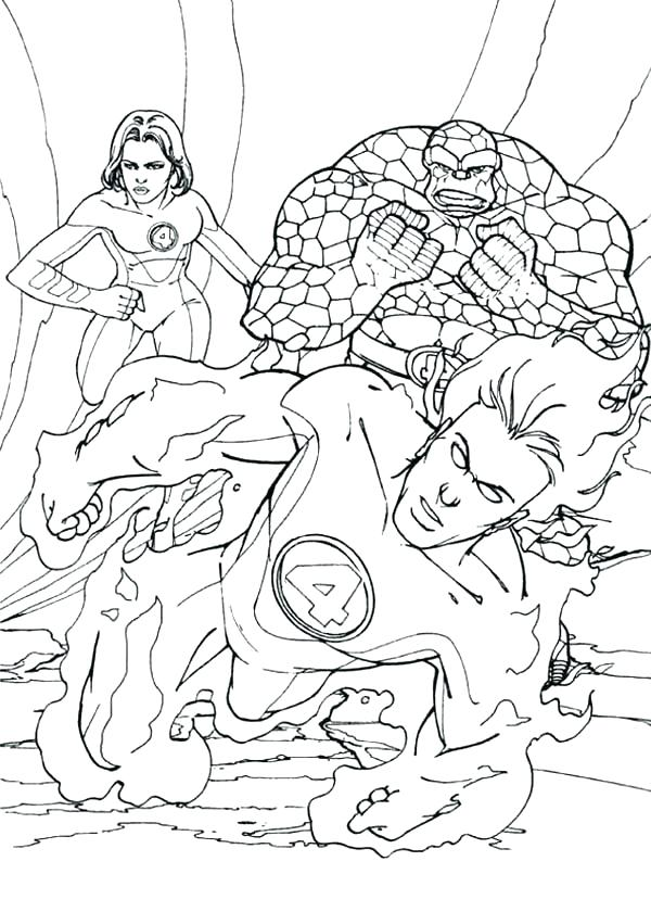 600x840 Human Torch Coloring Pages Beautiful Fantastic Four Coloring Pages