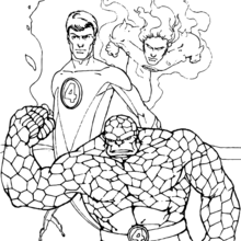 220x220 The Thing Running Coloring Pages