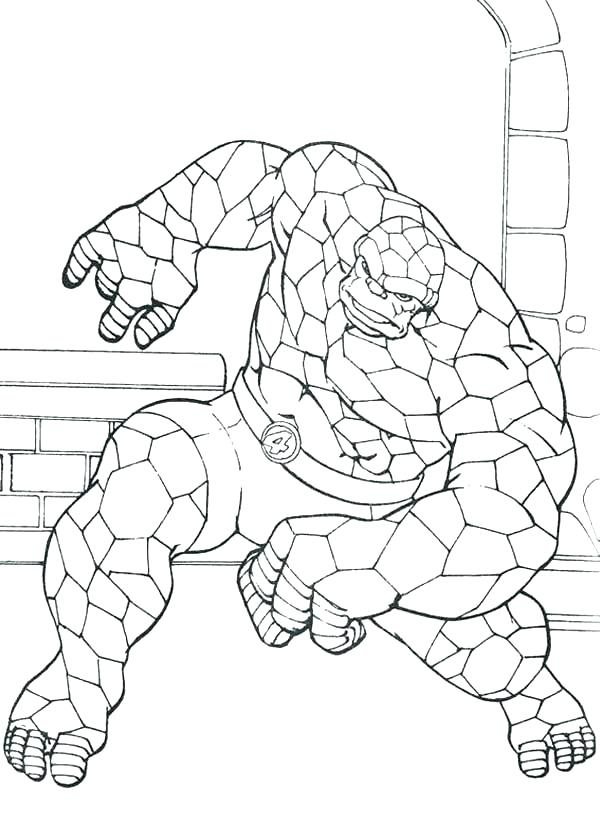 600x840 Fantastic Coloring Pages Beautiful Fantastic Four Coloring Pages
