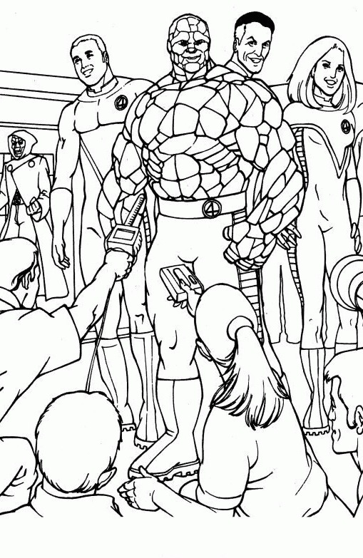 509x783 Top Fantastic Four Coloring Pages For Your Little Ones Adult