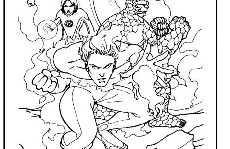 469x304 Fantastic Four Coloring Pages Just Colorings