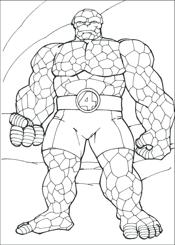 728x1019 Fantastic Coloring Pages Fantastic Four Coloring Pages Free