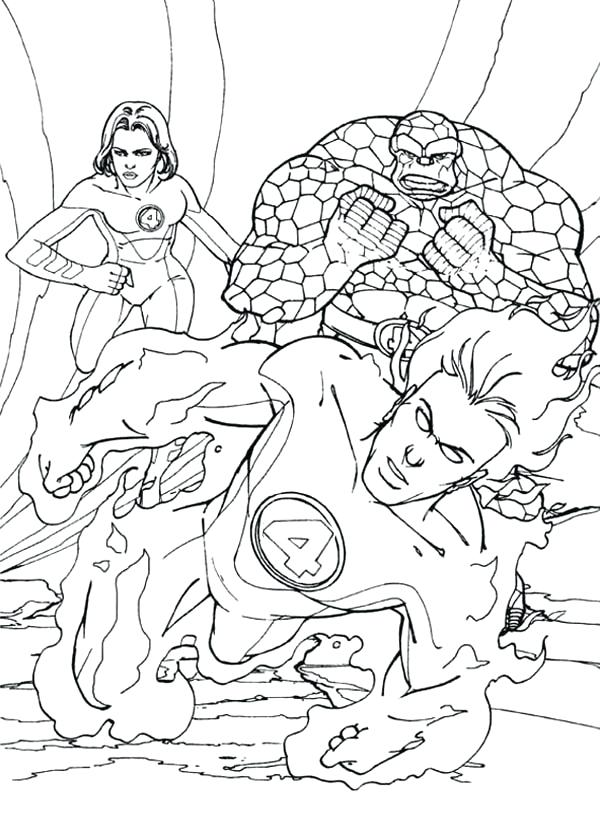 600x840 Fantastic Four Coloring Pages Coloring Pages Of Fantastic Four