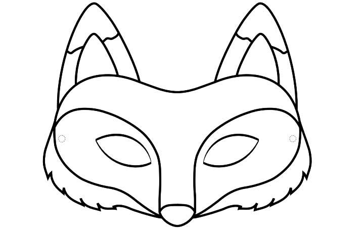 720x450 Top Free Printable Fox Coloring Pages Online Fox Mask, Fox