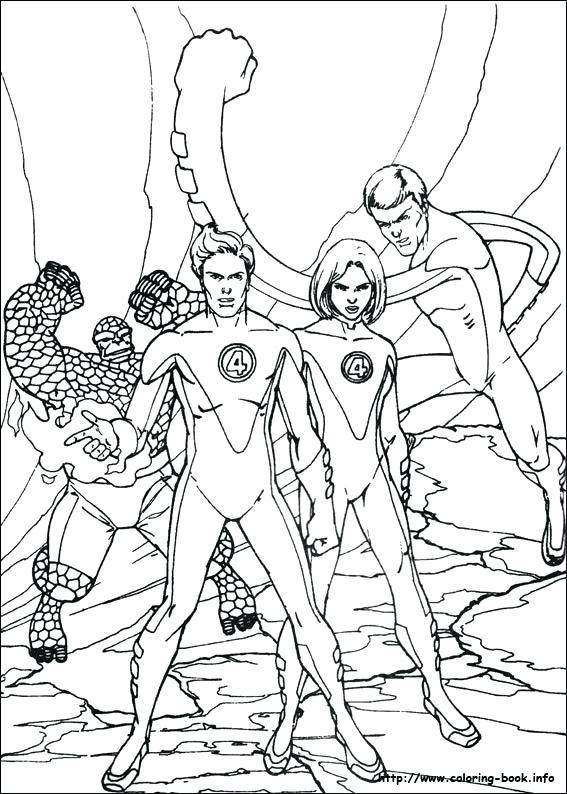 567x794 Fantastic Four Coloring Pages Fantastic Four Coloring Picture