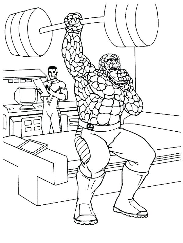 600x794 Fantastic Four Coloring Pages Fantastic Four Thing Is In Training