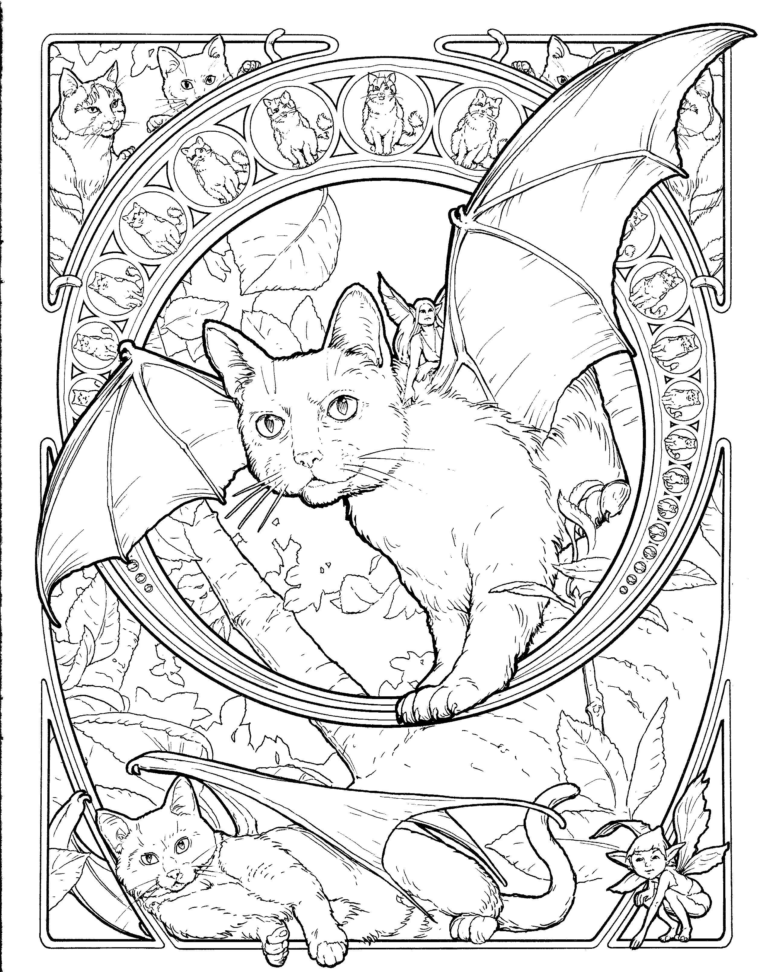 Fantasy Animal Coloring Pages at GetDrawings | Free download