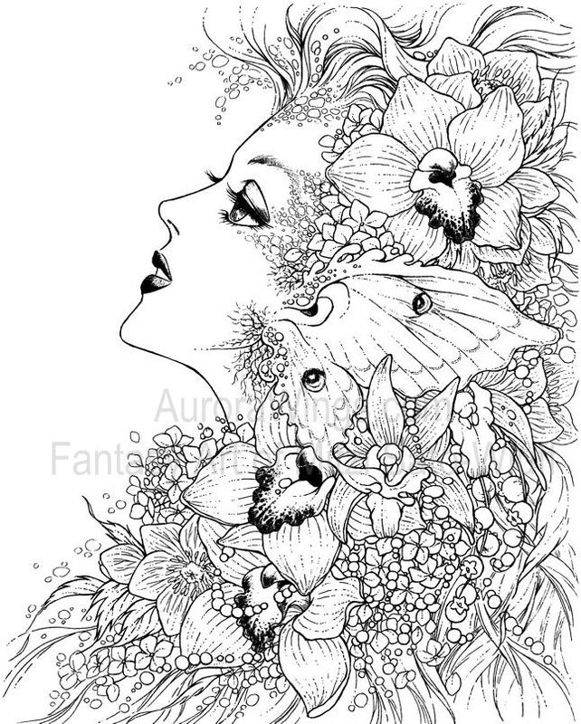 Fantasy Art Coloring Pages
