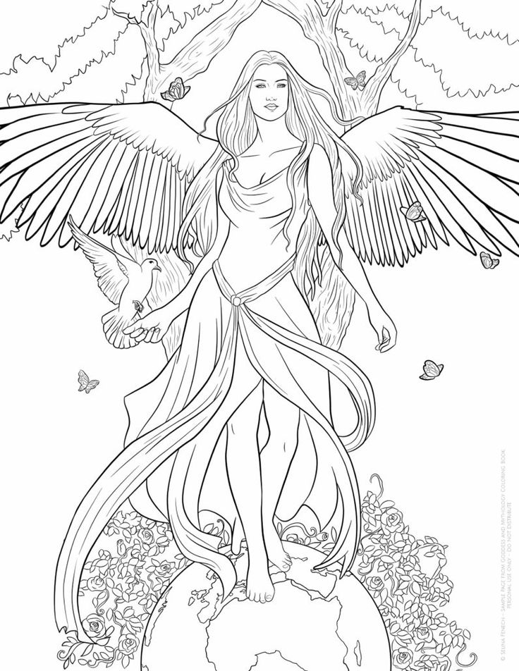Fantasy Coloring Pages For Adults Free