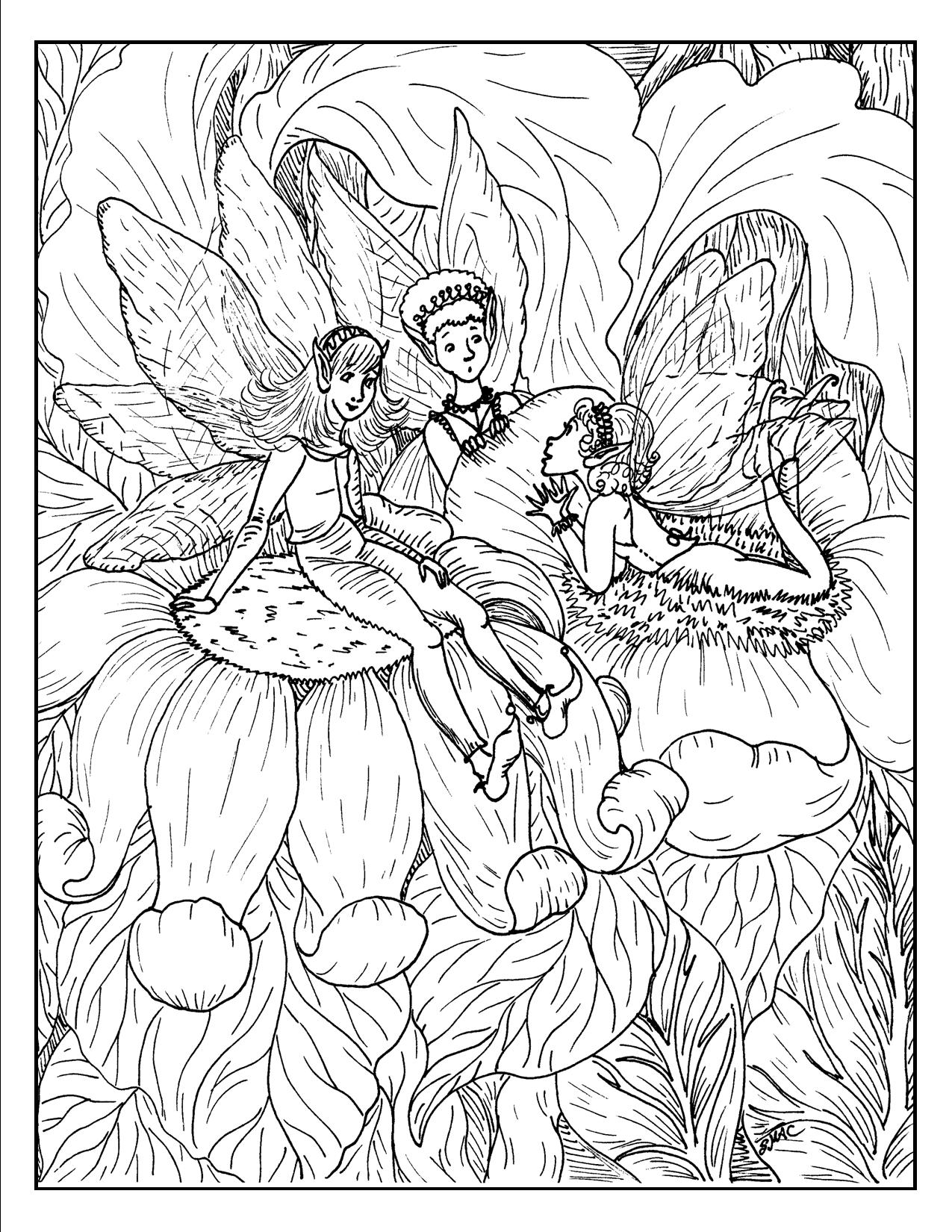 1275x1650 Colorful Free Printable Fantasy Coloring Pages