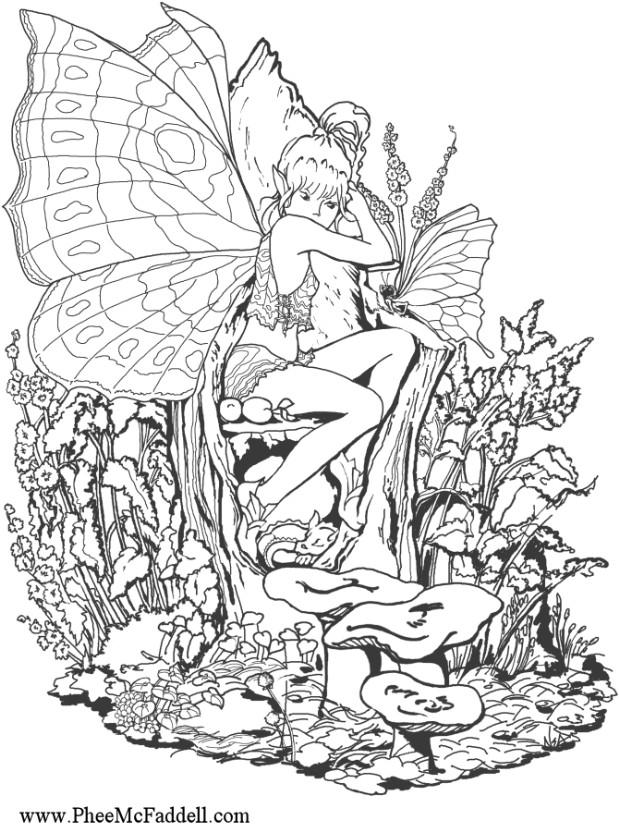 619x832 Coloring Pages Free Printable Fantasy Coloring Pages For Adults
