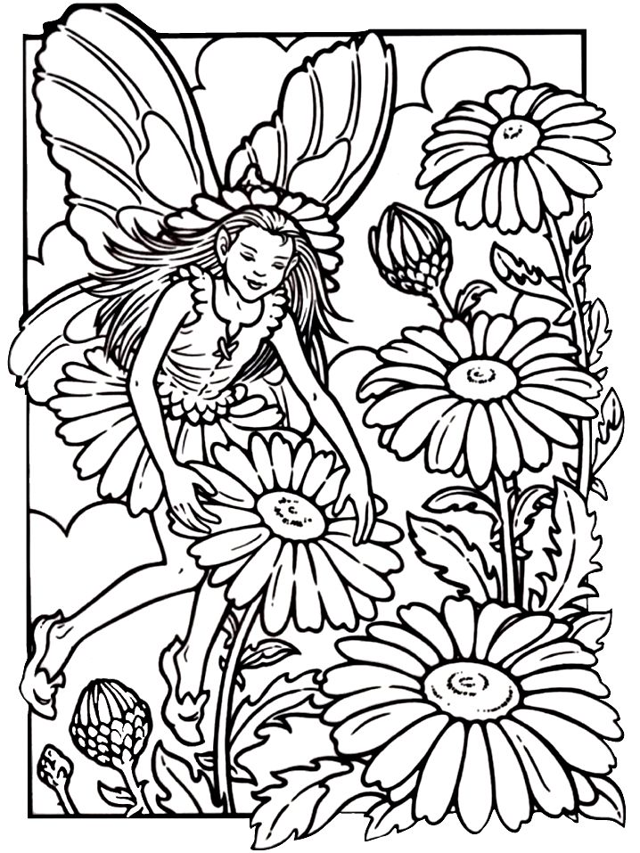 718x957 Fairy Coloring Pages For Adults