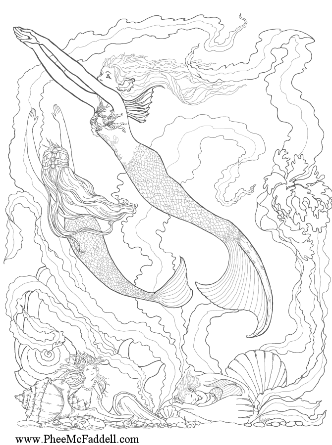 670x900 Fantasy Coloring Pages