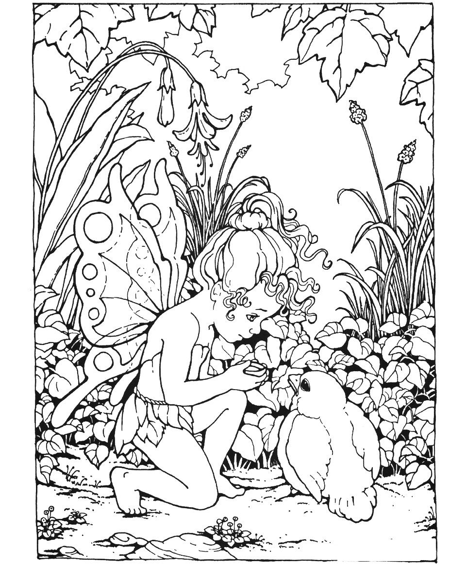 960x1200 Fantasy Coloring Pages Fairy, Adult Coloring And Free Printable