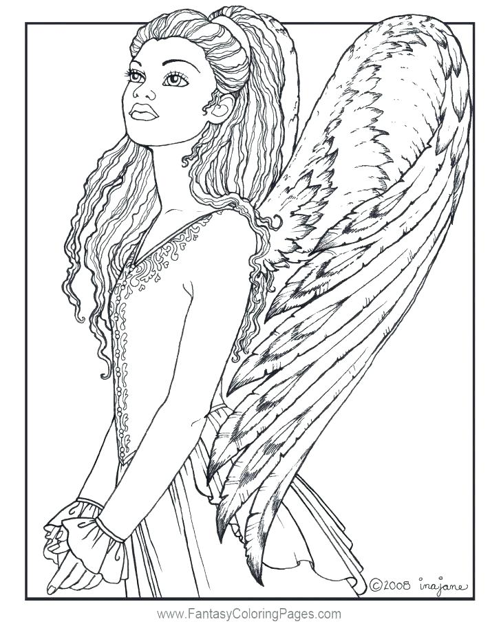 728x910 Free Angel Coloring Pages Angels Coloring Pages Print Angels