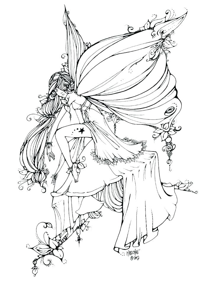 736x955 Free Printable Fairy Coloring Pages For Adults Fairies Coloring