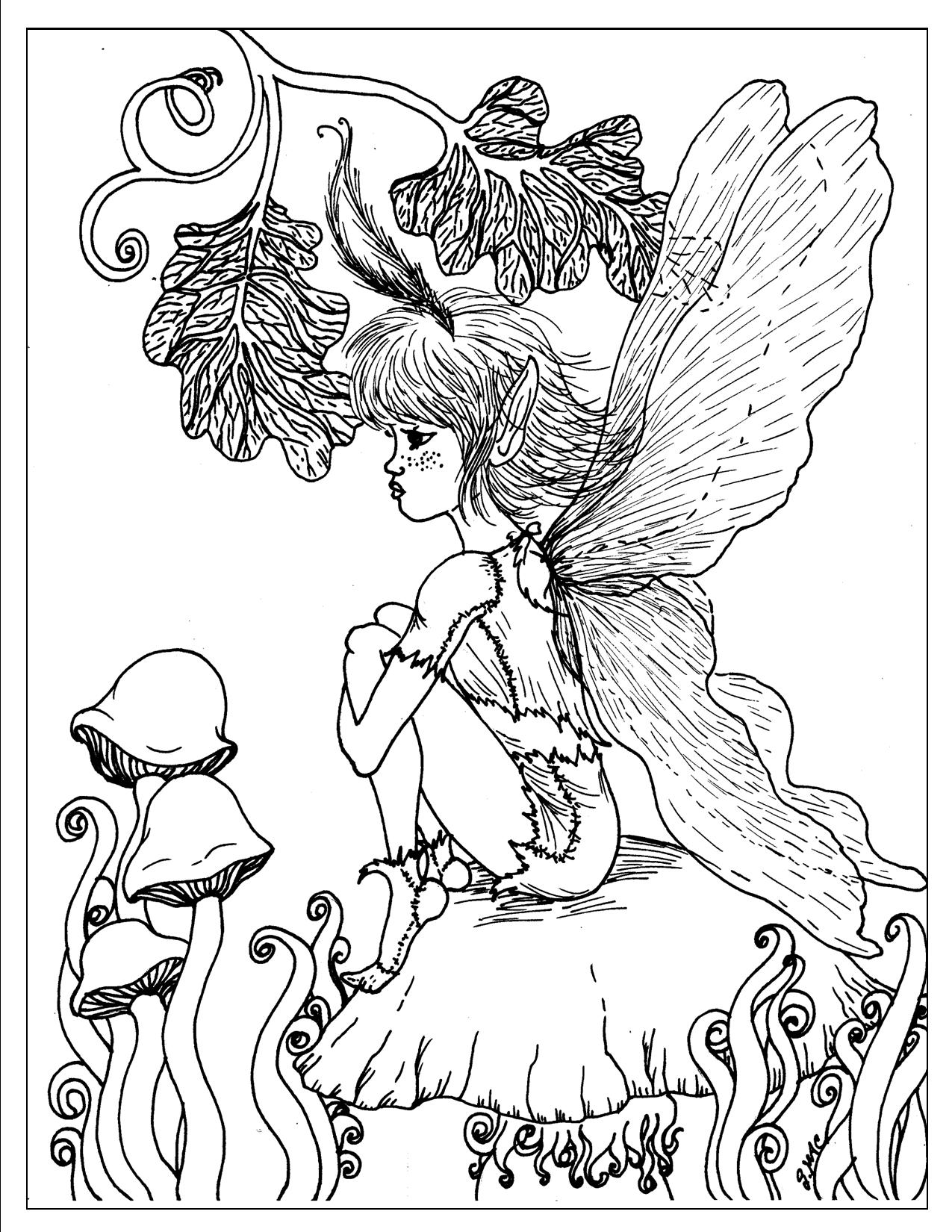 1275x1650 Printable Fantasy Coloring Pages For Adults To And Print For Free