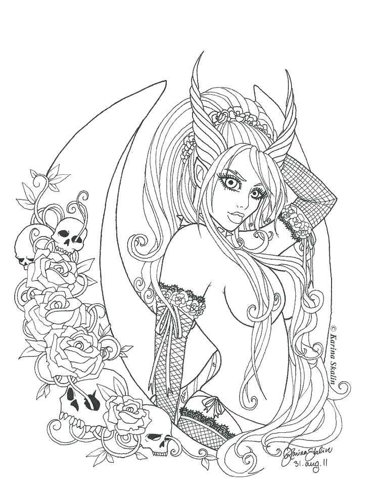736x964 Free Fairy Coloring Pages For Adults