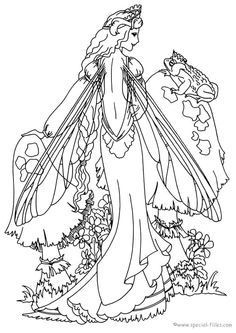 236x333 Free Fantasy Coloring Pages For Grown Ups