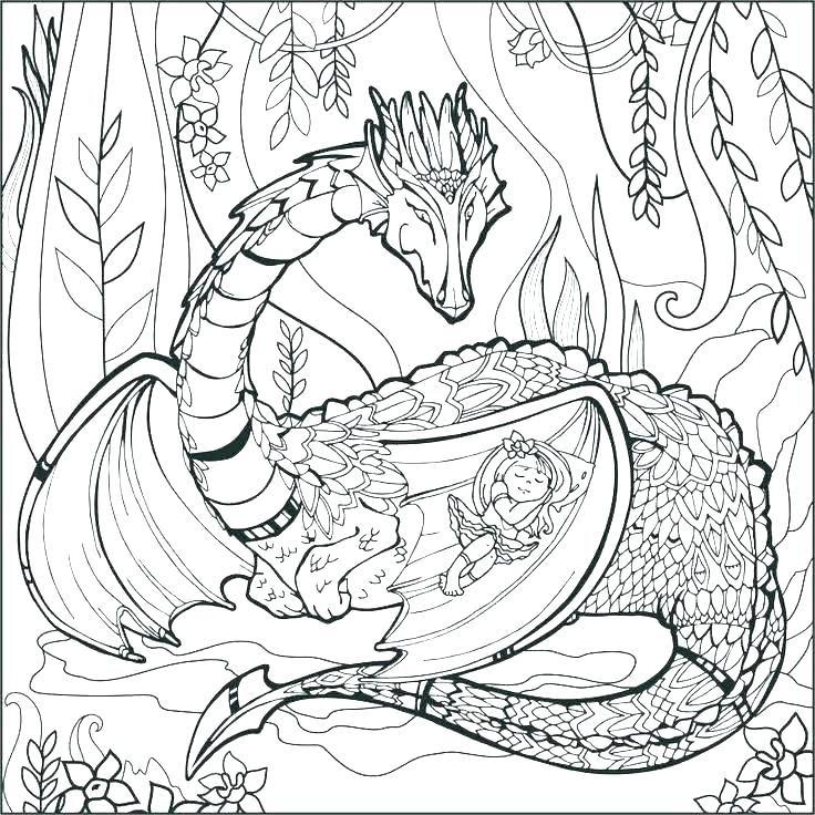 736x736 Mythological Animal Coloring Pages Mythical Creature Creatures