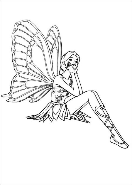 Fantasy Fairy Coloring Pages