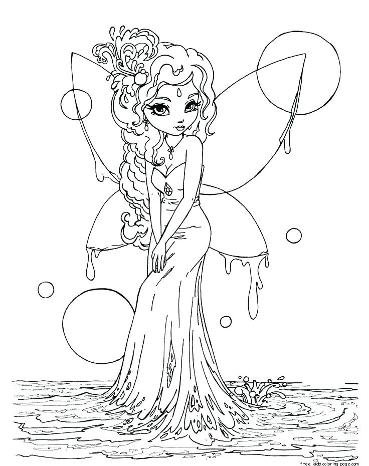 Fantasy Fairy Coloring Pages at GetDrawings.com | Free for ...