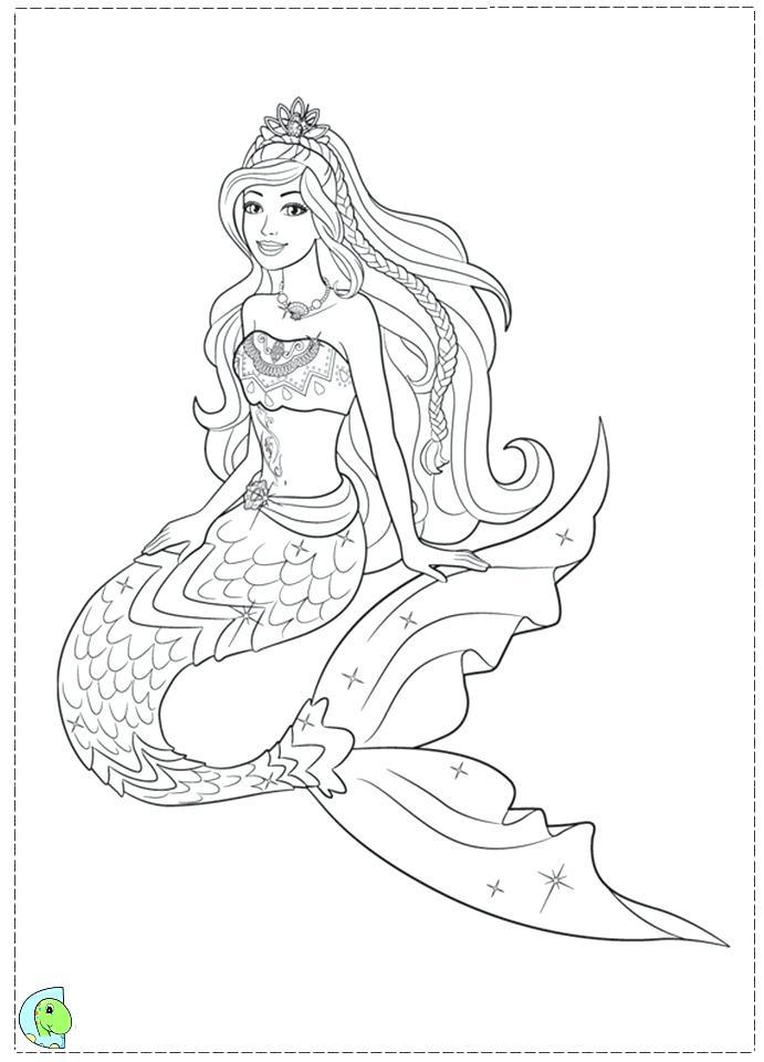 Fantasy Mermaid Coloring Pages At Getdrawings Free Download