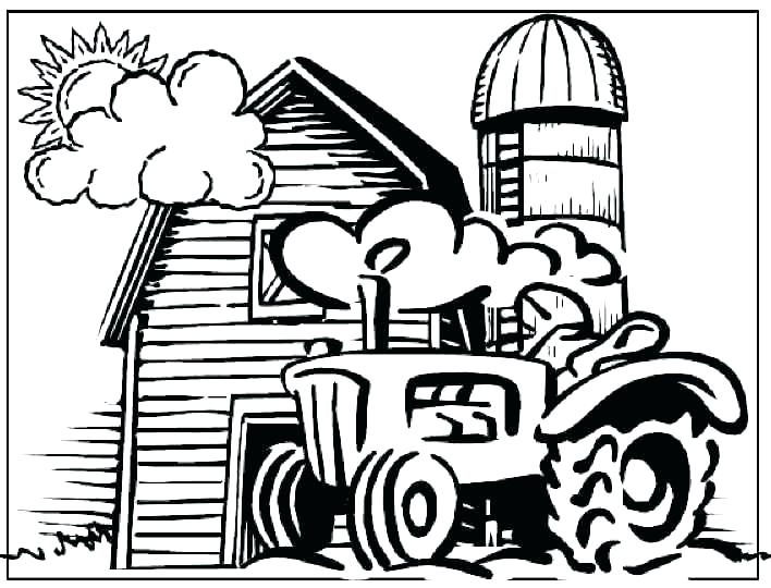 Farm Coloring Pages For Kids At Getdrawings Com
