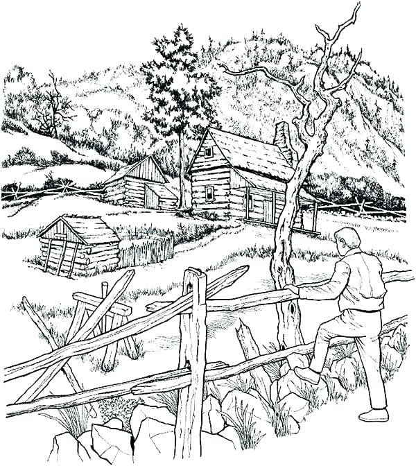 Farm Coloring Pages Free Printable at GetDrawings.com | Free ...