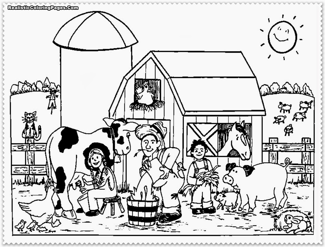 Farm Coloring Pages Free Printable At Getdrawings Com Free For