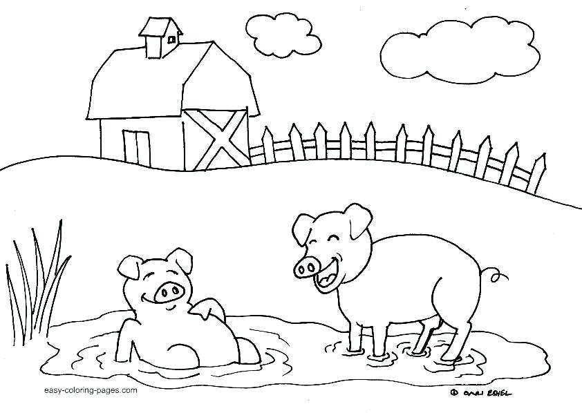842x598 Farm Color Pages Farm Animal Coloring Pages For Preschoolers Free