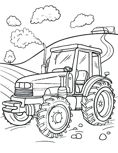 392x507 Farm Coloring Pages Farm Equipment Coloring Pages Free Farm